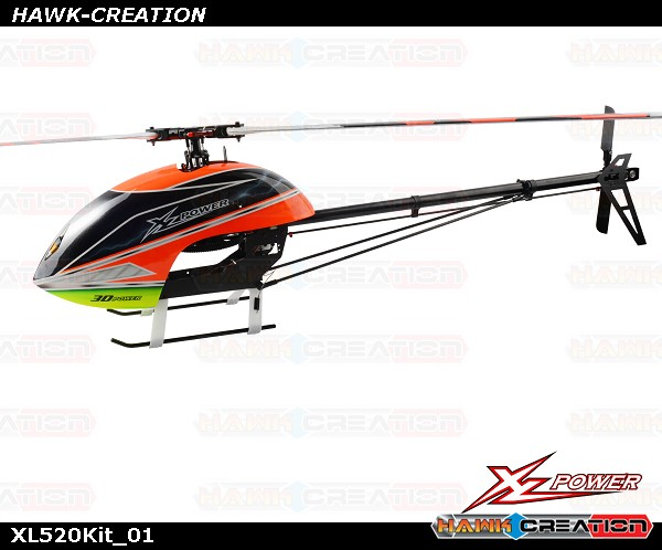 XLPower 520 RC Helicopter Kit (With motor , Main Blades , Tail Blades)
