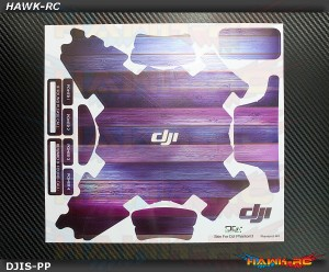 DJI Phantom 3 Custom Wraps Skin Purple Wood Pattern (Drone & Transmitter)