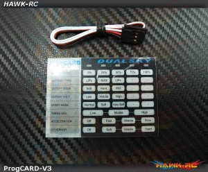 DUALSKY ProgCARD V3, for Ultra Series ESC