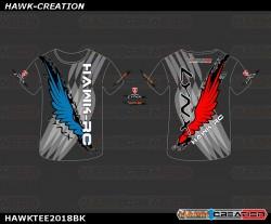 Hawk Creation X LYNX OXY heli Short Tee 2018 (Black)