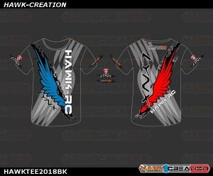 Hawk Creation X LYNX OXY heli Short Tee 2019 (Black)