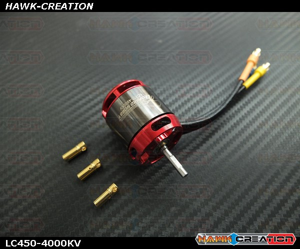LEOPARD Model LC450 4000KV RC Outrunner Brushless Motor for 450 Helicopter LC450-4000 ( OXY3 )