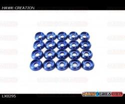 Frame C Washer M2, Blue 20pcs - OXY 3