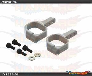 LYNX Aluminum Tail Servo Mount Silver - OXY 3
