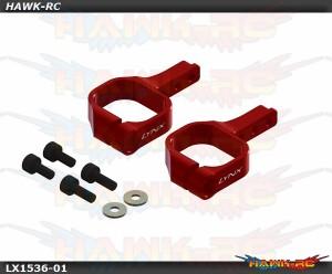 LYNX Aluminum Tail Servo Mount Red - OXY3
