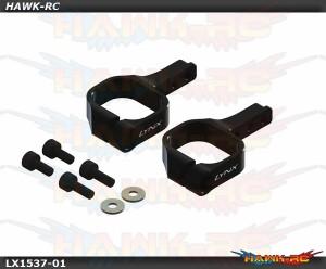 LYNX Aluminum Tail Servo Mount Black - OXY