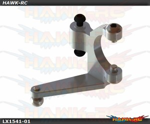 LYNX Aluminum Tail Bell Crank Silver - OXY3