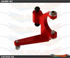 LYNX Aluminum Tail Bell Crank Red - OXY3