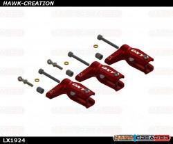 LYNX -  OXY3 - Pro Edition Main Grip - Red, 3Pcs - Set - OXY3