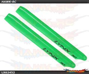 LYNX Plastic Main Blade 245mm Green - 300X/CFX/OXY3