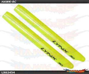 LYNX Plastic Main Blade 245mm Yellow - 300X/CFX/OXY3