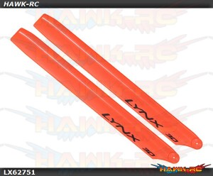 LYNX Plastic Main Blade 275mm Orange - 300X/CFX/OXY3 Stretch