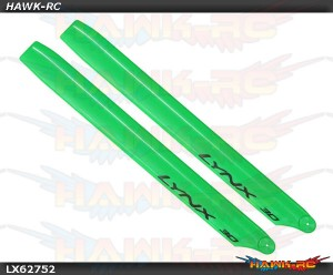LYNX Plastic Main Blade 275mm Green - 300X/CFX/OXY3 Stretch