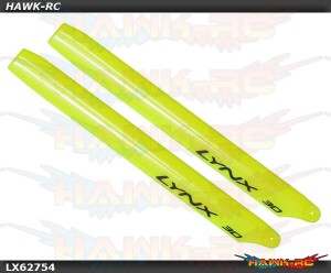LYNX Plastic Main Blade 275mm Yellow - 300X/CFX/OXY3 Stretch