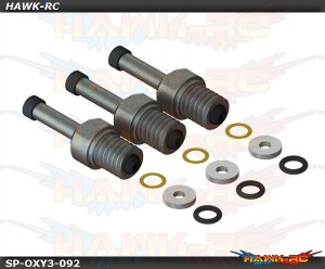 Qube 3 Blade Spindle Shaft Spare Set - OXY3