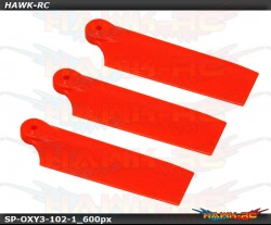 Qube 3 Tail Blade 50mm Orange - OXY3