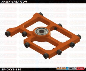 OXY3 TE- Middle Main Shaft Bearing Block, Orange