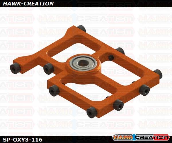 OXY3 TE- Middle Main Shaft Bearing Block, Orange