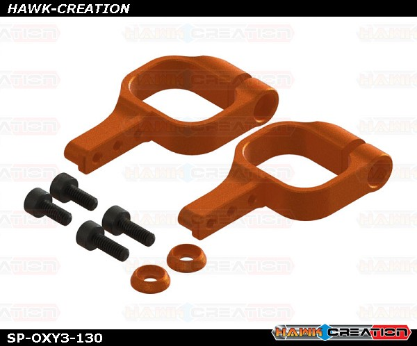 OXY3 TE - OXY3 CNC Alu Tail Servo Mount, Orange