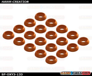 C Washer M2, Orange 20pcs - OXY 3
