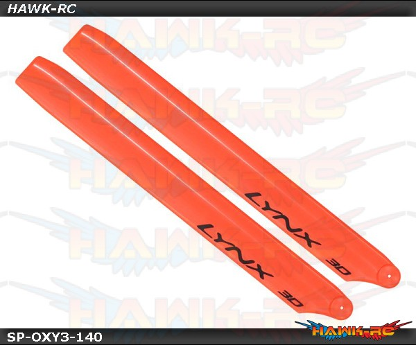 LYNX Plastic Main Blade 250mm - Orange - 300X/CFX/OXY3