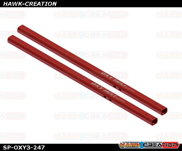 285 Stretch - Tail Boom Spare , Red, 2pcs - OXY3