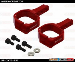 Aluminum Tail Servo Mount - Red - OXY3