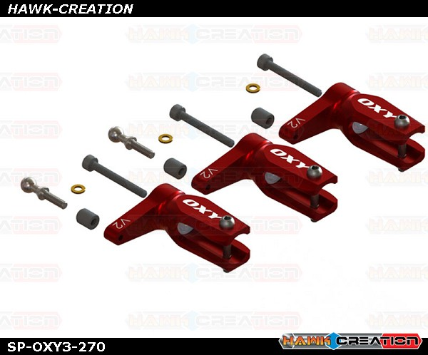 OXY3 - Pro Edition Main Grip-Red, 3Pcs-Set - OXY3