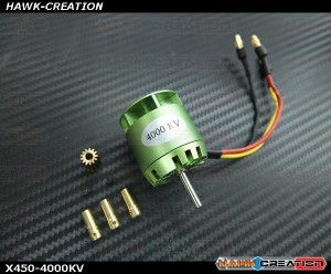 Brushless Motor -X450-4000KV (For OXY3)