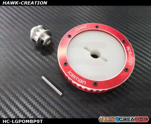 Hawk Creation POM & Aluminum CNC Main Belt Pulley - LOGO500~690/SE/SX  Series with 9T Tail pulley