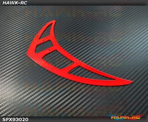 Spedix Neon Red Tail Fin Tailfin - LOGO400/480 Series/Integrated Tail Box