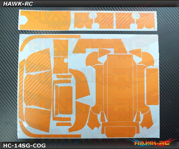 FUTABA 14SG Protector Wraps Skin Carbon Orange V2