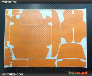 FUTABA T8FG Protector Wraps Skin Carbon Orange V2