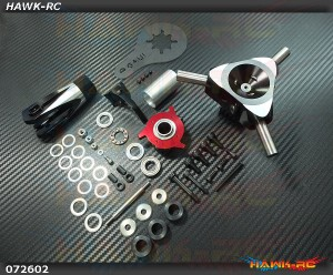 CNC 3 Blades Rotor Head Upgrade Kit (For X7.NX7)