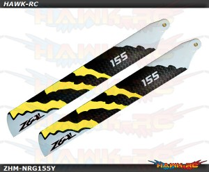 ZEAL Carbon Fiber Zeal Blades 155mm Energy (Neon Yellow)