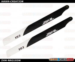 ZEAL Energy Carbon Fiber Main Blades 193mm (White)
