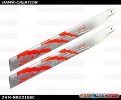 ZEAL Energy Silver Carbon Main Blades 210mm (Neon Orange)