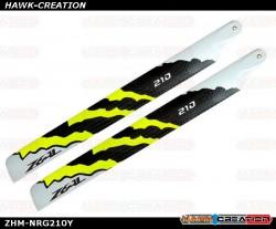 ZEAL Carbon Fiber Main Blades 210mm Energy (Yellow)