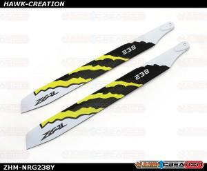 ZEAL Carbon Fiber Zeal Blades 238mm Energy (Yellow)