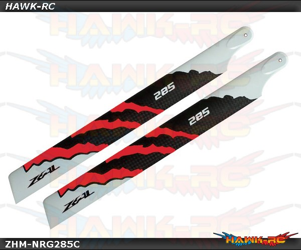 ZEAL Carbon Fiber Main Blades 285mm Energy (Neon Orange)