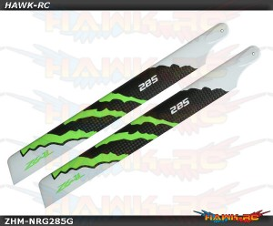 ZEAL Carbon Fiber Main Blades 285mm Energy (Green)