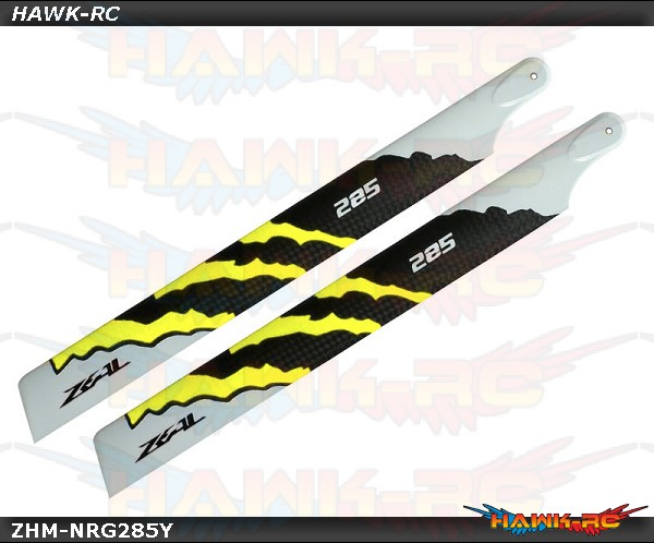 ZEAL Carbon Fiber Main Blades 285mm Energy (Yellow)