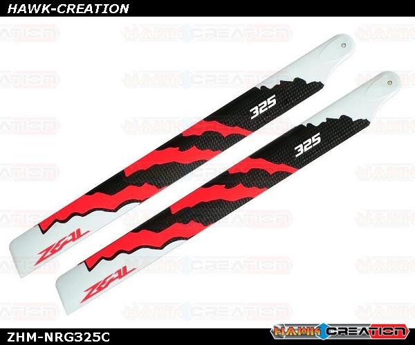 ZEAL ENERGY Carbon Fiber Main Blades 325mm (Neon Orange)