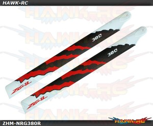 ZEAL Carbon Fiber Zeal Blades 380mm Energy (Red)