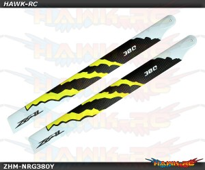 ZEAL Carbon Fiber Zeal Blades 380mm Energy (Yellow)