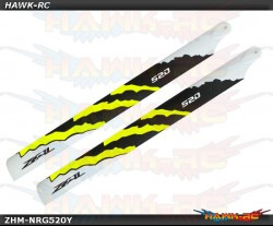 ZEAL Carbon Fiber Main Blades 520mm Energy (Yellow)