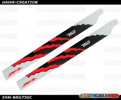 ZEAL Carbon Fiber Main Blades 750mm Energy (Neon Orange)