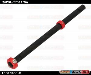 CNC Solid Carbon w/AL Collar Main Shaft Set (Red) - Trex 150 DFC