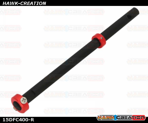 CNC Solid Carbon w/AL Collar Main Shaft Set (Red) - Trex 150 DFC