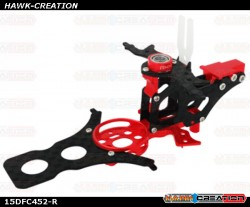 CNC AL and CF Main Frame Set (Red) - Trex 150 DFC